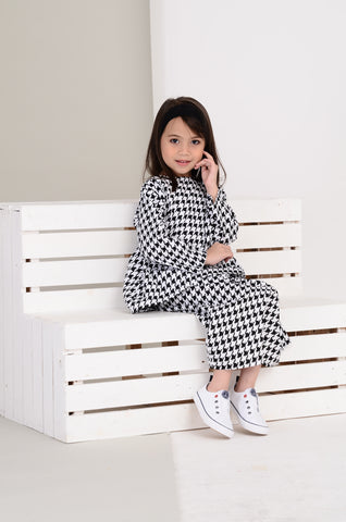 Girls Nabila Kurung in Houndstooth