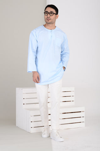 Men's Kurta in Baby Blue