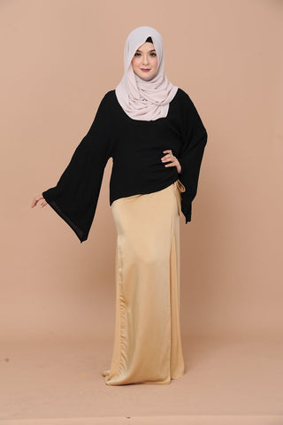 Indah Kurung (Black/Gold)