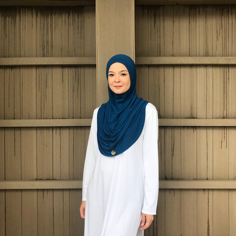 Kayla Instant Hijab (MIDNIGHT BLUE) PROMO BUNDLE AVAILABLE