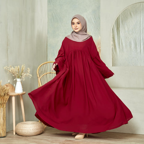 Maryam Dress in Maroon (NEW!)