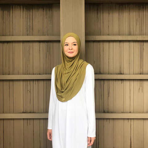 Kayla Instant Hijab (OLIVE GREEN) PROMO BUNDLE AVAILABLE