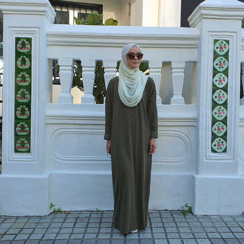 Alyssa Ribbed Maxi Dress (Olive) NEW!