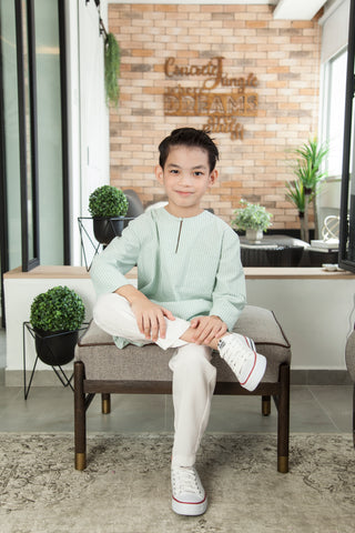 Harris Kurta in Mint Green (Boys)