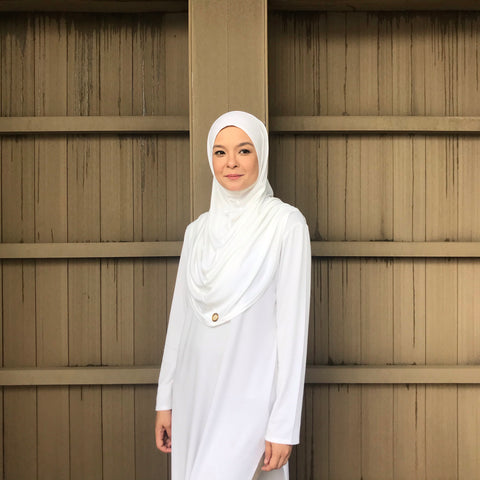 Kayla Instant Hijab (BRIDAL WHITE) PROMO BUNDLE AVAILABLE