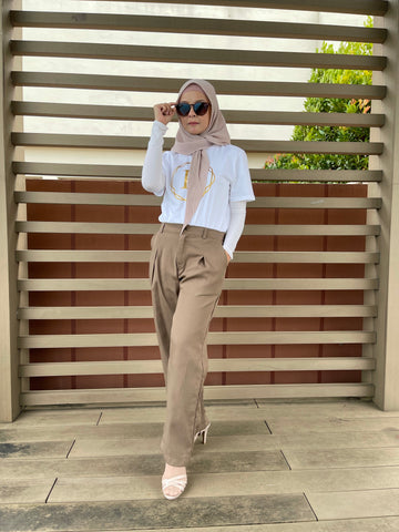 Ena Cotton Pants in Khaki (NEW!)