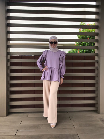 Clara Frill Blouse in Lilac (NEW!)