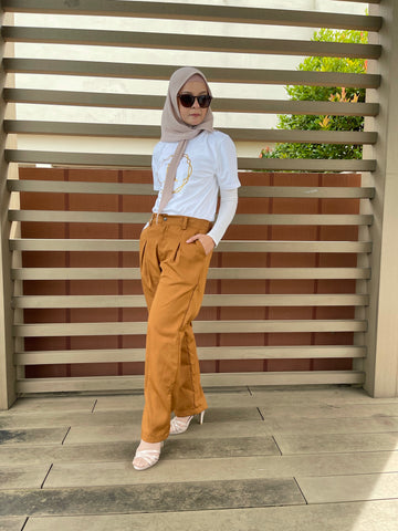 Ena Cotton Pants in Camel (NEW!)