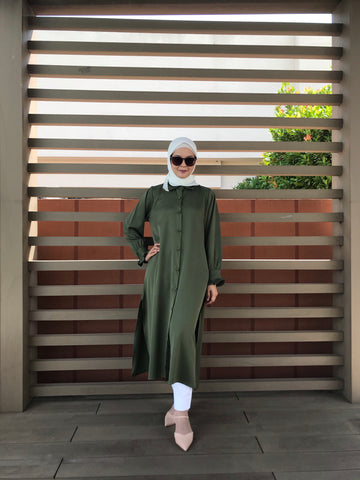 Emma Tunic in Army Green