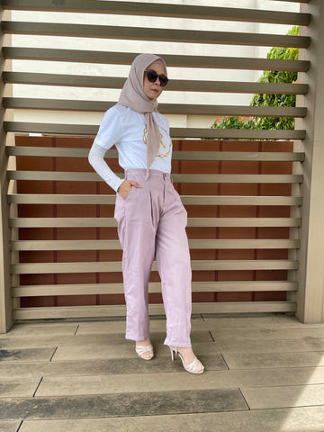 Ena Cotton Pants in Mauve (NEW!)