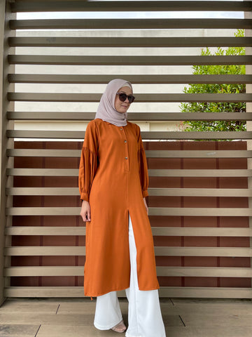 Julie Tunic in Burnt Orange (New!)