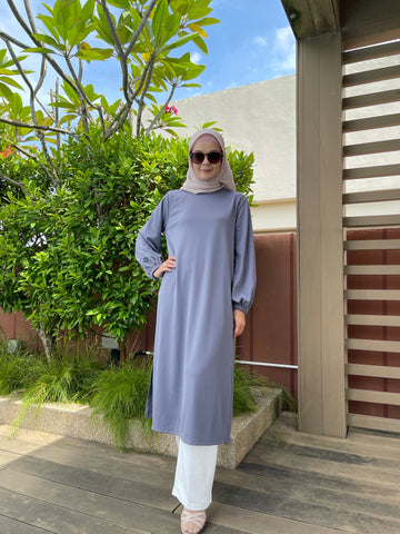 Ayra Tunic in Steel Blue
