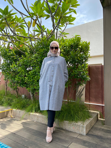 Geena Oversized Tunic in Ash