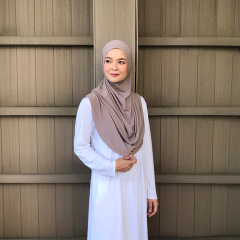 Kayla Instant Hijab (LATTE) PROMO BUNDLE AVAILABLE