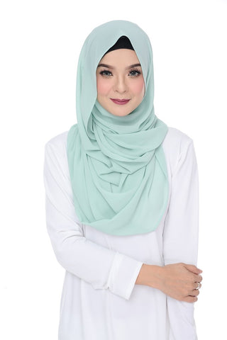 Premium Maxi Chiffon Snood (Lime Green)