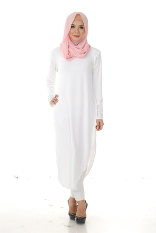 Kylie Tunic Top (White)