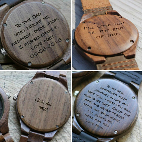Wooden watch engraving uk