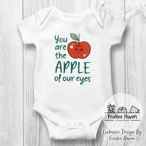 Apple Quote Embroidery Baby Romper