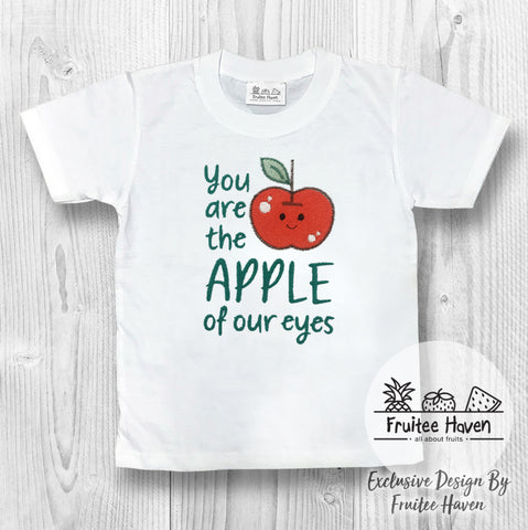 Apple Quote Embroidery Kids Tee Shirt