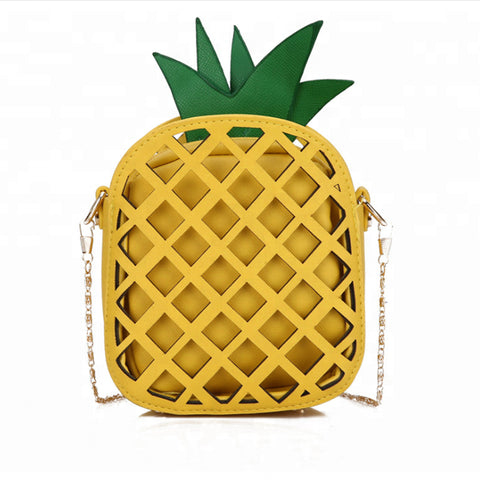 Pineapple PU Leather Cross-Body Shoulder Bag