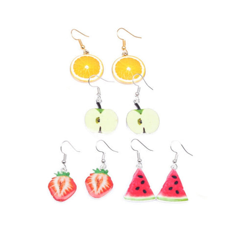 Colourful Fruit Oil Drop Droplet Earring
