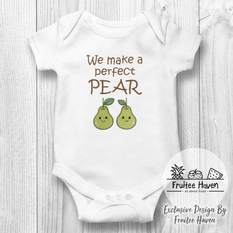Pear Quote Embroidery Baby Romper