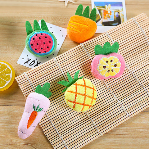 Cute Fruit Series Plush Brooch Pin