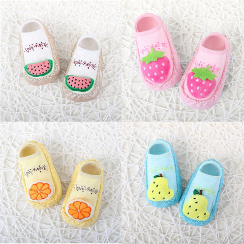 3D Fruit Series Non-Slip Toddler Rubber Shoe Socks
