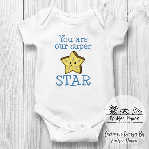 Star Fruit Quote Embroidery Baby Romper
