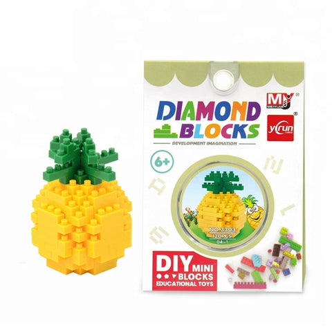 3D Educational Fruit Puzzle Nano Block Toy (Type 2)