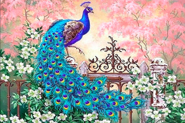 Bluish Hanging Peacock - Vinci Paint-By-Number Kit