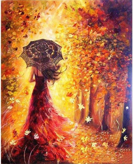 The Autumn Lady Vinci™ Paint-By-Number Kit