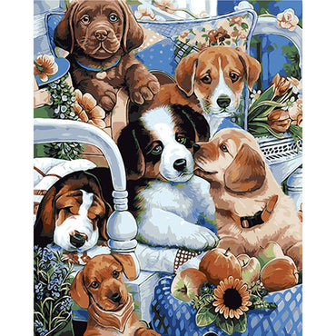 Cute Puppies - Vinci Paint-By-Number Kit