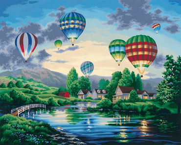 Hot Air Balloon Festival - Vinci Paint-By-Number Kit