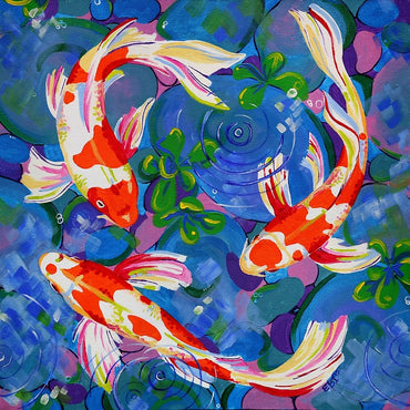 Koi Fish - Vinci Paint-By-Number Kit