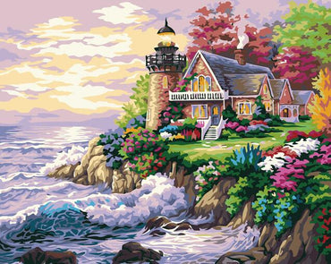 Lighthouse Cottage - Vinci Paint-By-Number Kit
