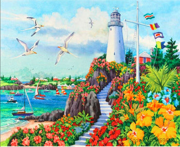 Lighthouse Harbor Vinci™ Paint-By-Number Kit