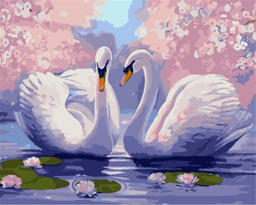 Lovely Swan - Vinci Paint-By-Number Kit