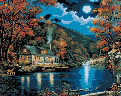 Peaceful Night - Vinci Paint-By-Number Kit