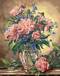 Peony Floral - Vinci Paint-By-Number Kit