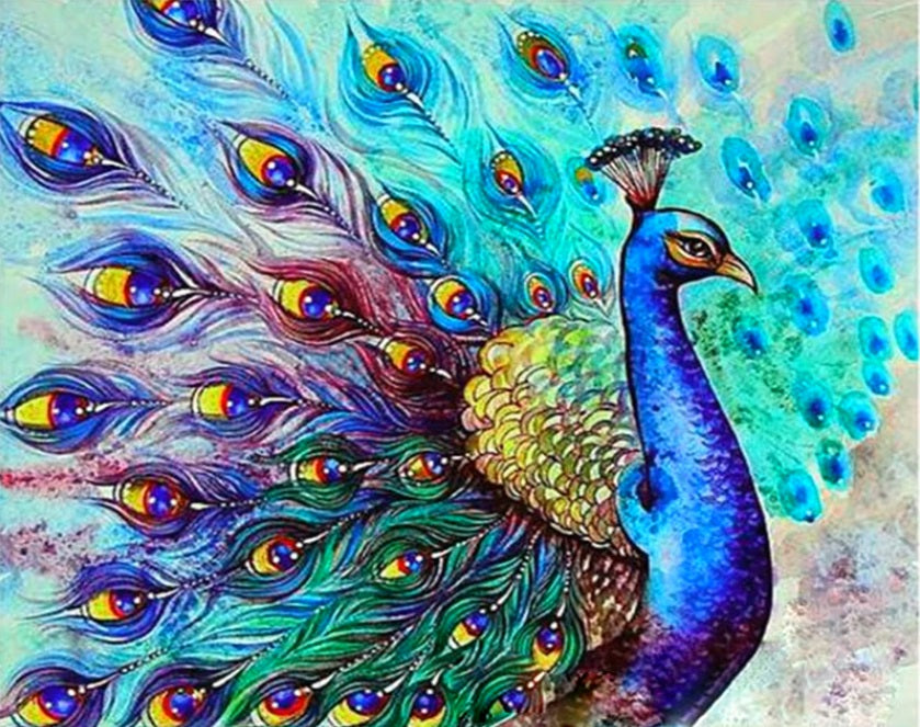 Stunning Peacock Vinci™ Paint-By-Number Kit