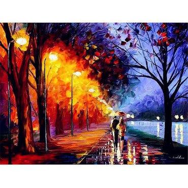 Couple Walking - Vinci Paint-By-Number Kit