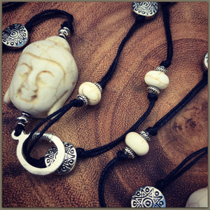 "Boho Hemp Necklace ""Buddha"""