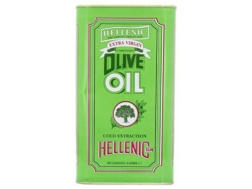 Hellenic Extra Virgin Olive Oil - 3Ltr