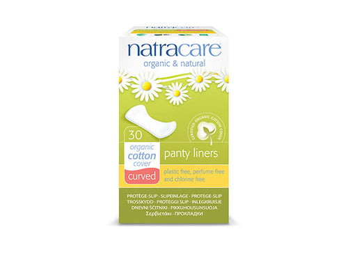 Natracare Natural Panty Liners Curved - 30s