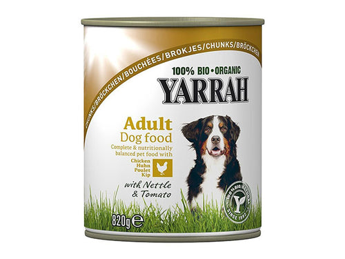 Yarrah Dog Food - Chicken Chunks With Nettle & Tomato - 405g