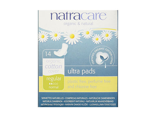 Natracare Natural Ultra Pads Regular With Wings - 14s