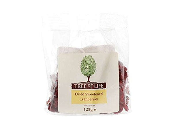 Tree Of Life Cranberries - 125g x 6