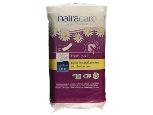 Natracare Natural Pads Night Time - 10s