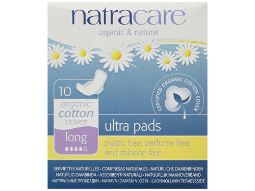 Natracare Ultra Pads With Wings - Long - 10s